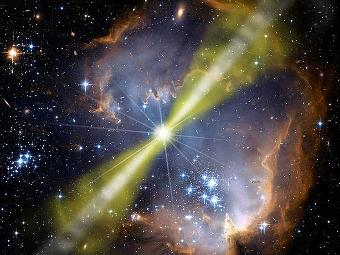 Гамма-всплеск. Иллюстрация PD-USGOV-NASA