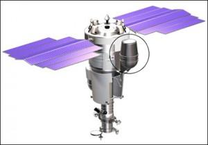 Российский спутник «Ресурс-ДК1», к которому прикреплена установка PAMELA.