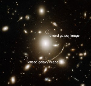 Abell 383 with lensed galaxy