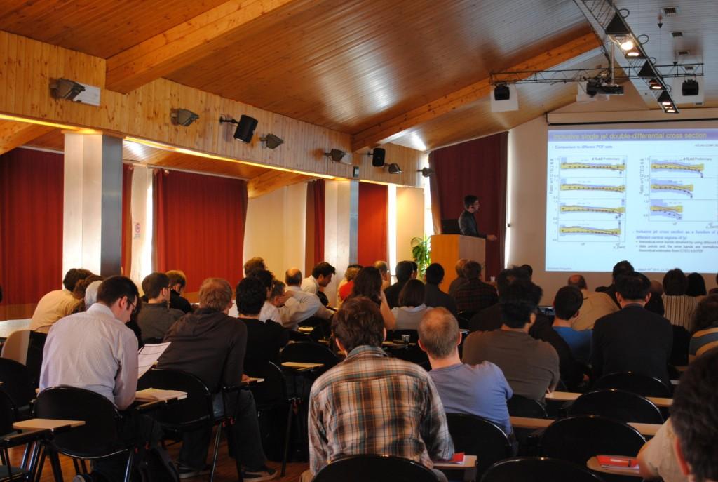 Conference participants at La Thuile.