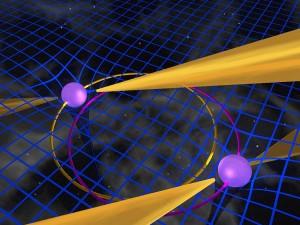 Рисунок двойного пульсара. Изображение с сайта www.jb.man.ac.uk