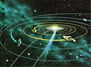 Схема Солнечной системы. Изображение с сайта www.bibliotecapleyades.net