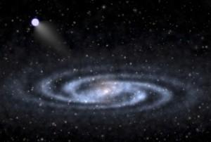 Темная материя исследуется сверхскоростной звездой
