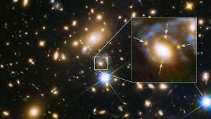 Вспышка сверхновой © NASA/ ESA, FrontierSN and GLASS