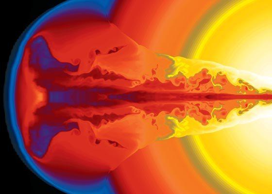 Взрывы звезд, порождающие гамма-всплески — новые маяки Вселенной. Их излучение доходит с таких расстояний, где пока не видны никакие другие объекты.