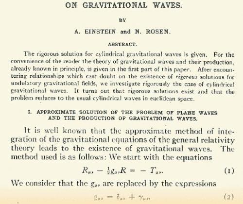 Статья «О гравитационных волнах» Изображение: Martin Blume / American Physical Society