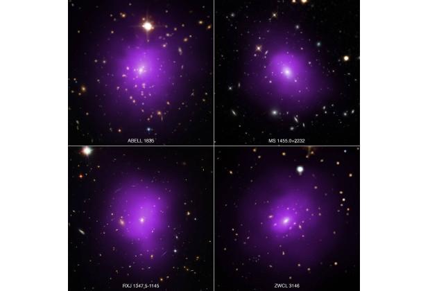 Пример исследованных галактик Изображение: NASA/CXC/Univ. of Alabama/A. Morandi et al, SDSS, NASA/STScI