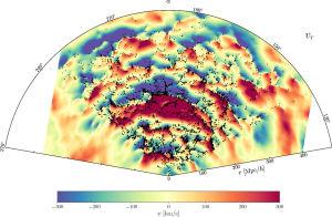 Карта движения темной материи
